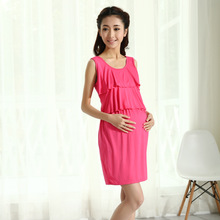 Chinese factory cotton korean style maternity dress BK129