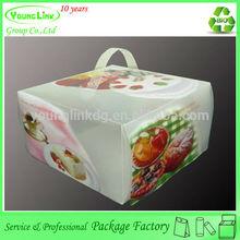 Supplier Popular christmas plastic cake box for wedding