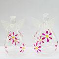 delicado diseño transparente decoratiom de ángel de cristal soplado vidrieras de ángel