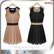 New Dress Short Ruffle Chiffon Casual Dress Women Wear Clothing