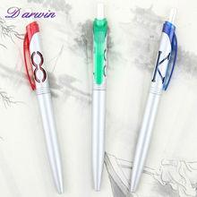 High quality multi-color retractable silver plastic pen