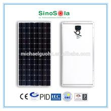 12v 180w solar panel with TUV/IEC61215/IEC61730/CEC/CE/PID