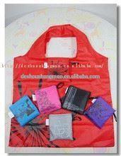 fashion recycled polyester monkey foldable nylon shopping bag