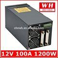 2014 alta eficiência 1200w 100a 12v 12 volts dc transformador