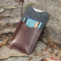 Italian Leather Phone Case with pocket,distressed Leather Phone Wallet wholesale,personalized pouch for iphone 6 and 6 plus