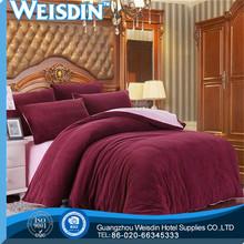 plain dyed Guangzhou plain blue lucky bedding set