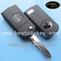 Heißer verkauf 2-taste auto remote schlüsselrohling fernbedienung für mazda m6 schlüssel