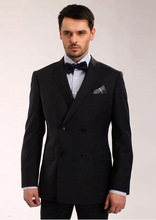 double breast bottons notch lapel.slim fit suit,custom made men suits