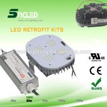 Snc cul/dlc listados led retrofit kits/diodo emissor de luz do dossel/led retrofit luz garagem