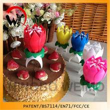 Flower Lotus Decorative birthday cake candle fancy