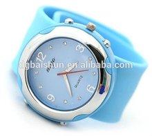 custom silicone wrist watch with quartz movement