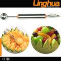 Frutas y verduras que talla las herramientas melon cucharadas y ballers