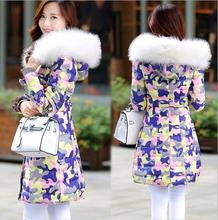 Z72051A 2014 korean style AUTUMN Big Size fur collar woman coats