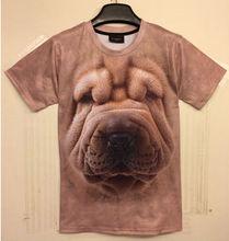 Animal big face printed 3d t shirt wholesale 3d tshirt alibaba china sublimate 3d tshirt