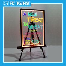 Transparent acrylic flashy led writing menu