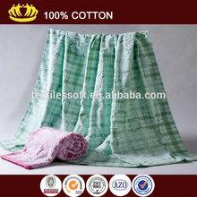 100% cotton solid color flower jacquard soft towel blanket