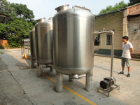 10000L per day stainless steel zeolite water filtration for cooling tower water treatment system
