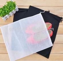 non woven shoe bag drawstring bag