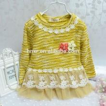 2014 Kids clothes new autumn and winter Girls long-sleeved t-shirt Girls baby dress kids clothing dress children lace dress