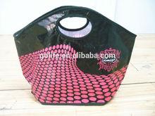 Lady basket shape pp woven handbag