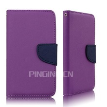 New Style PU Flip Wallet Leather Case Cover for nokia lumia 501 with Movie Stand Function