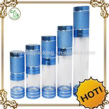 High quality airless bottle ,airless plastic transparent air freshener plastic bottles