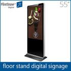 Flint Stone 55 inch advertising display,led backlight indoor digital signage,floor standing indoor advertising lcd display