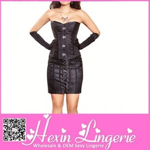 Hot selling fancy pictures of corset dresses with