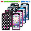 Laser Mixed phone case for iphone 6, dots , waves, anchors, Zebra stripes combo case
