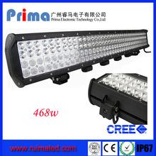 468w 36'' light bar quad row high lumens led offroad light bar for atv utv boat light