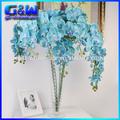 Flores decorativas artificial phalaenopsis orquídea borboleta vaso de arranjos de flores- diretamente da fábrica