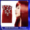 Suave #red mejor cabello virgen brasileño la venta clip en extensiones del pelo humano