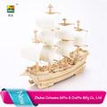 cotowins regalos sorteo fabricación china el barco de juguete de madera contrachapada puzle de madera fábrica de juguetes de madera antiguo modelo de nave