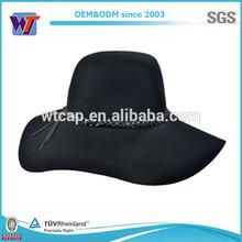 2014 Fashion winter hat wide brim woman wool felt hat