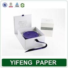 White Elegant Customized Regid Cardboard Candle Boxes Gift Packaging