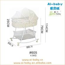wholesale price new designs lightweight oval crib