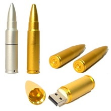 Unique Metal 16GB usb flash drive bullet