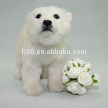 Make it bulk cheap ornaments realistic plastic polar bear toy