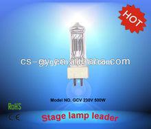 High color temperature GY9.5 500W ceramic base halogen lamps GCV