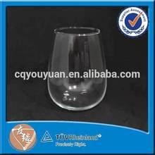 Stemless round bottom bohemia crystal glassware