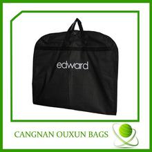 Fancy hanging custom 420D polyester foldable garment bag