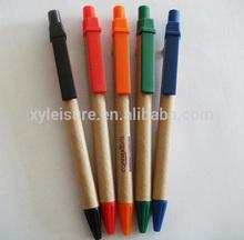 custom brand logo kraft paper ballpoint pen