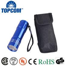 TP-2335 Aluminum Alloy 9 LED Flashlight with Nylon Holster