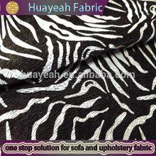 white and black zebra stripes printed fabric for sofa