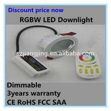 New design 3*4W rgbw saa adjustable dmx rgb recessed downlight led