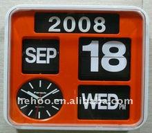 battery operated calendar clock