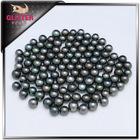 china wholesale 9-10mm full round black sea pearl no hole