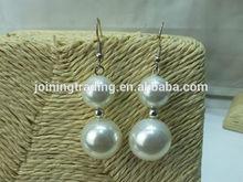 Vintage Large shell Pearl Earrings For Women