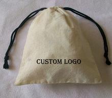 drawstring cotton bag with printed logo