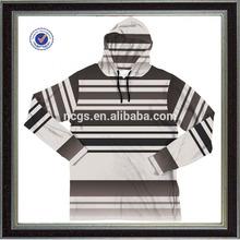 wholesale Custom long sleeve mans hoody striper t shirt